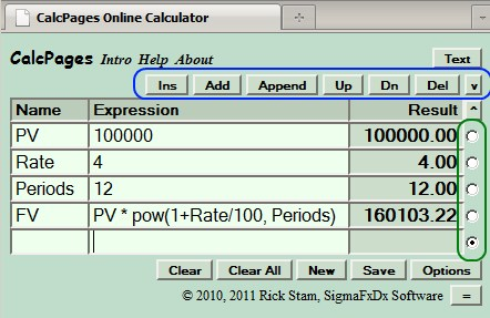 Open a New Online Calculator Page